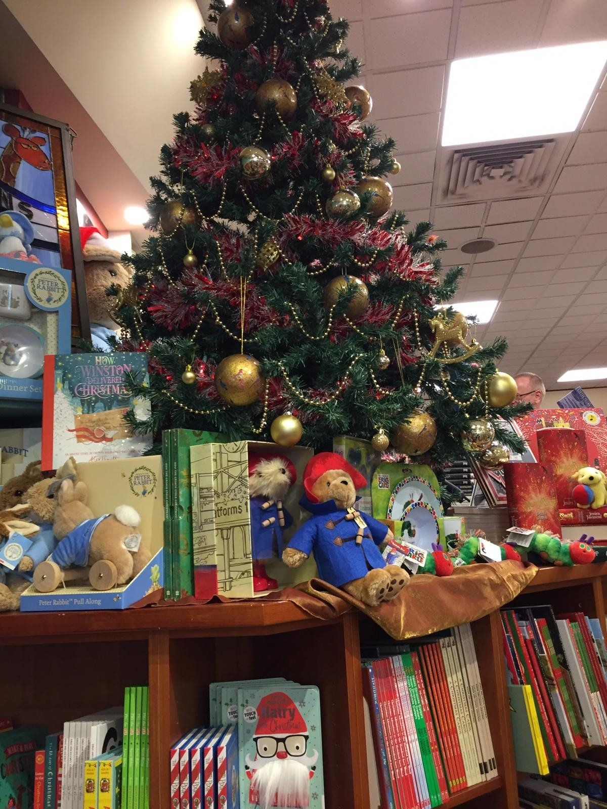 Christmas Tree at Bookstore