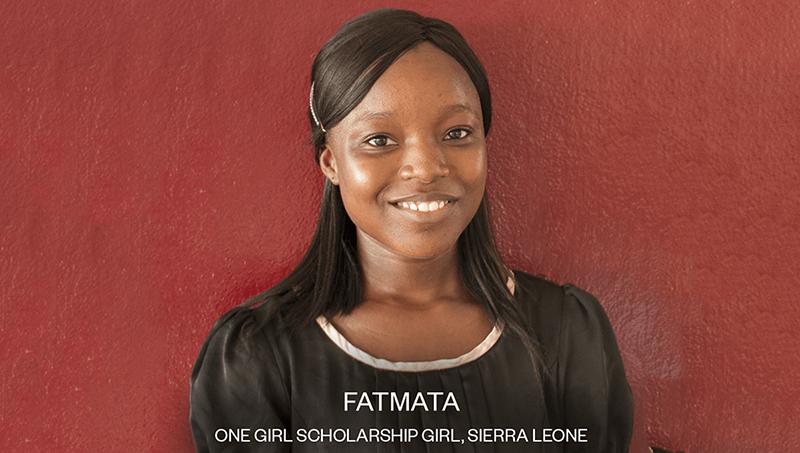 Fatmata- one girl scholarship girl